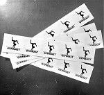 g457 Gymnast Circle Stickers 5pc. Sheet (ea.)