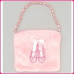 a31 Fuzzy Slipper w/Beads Purse (ea.)