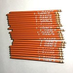 g268 Orange I LOVE DANCE Pencil (ea.)
