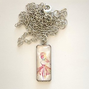 n84 Small Ballerina Pendant Necklace (ea.)