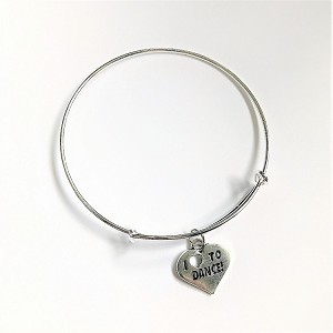 br49 I Love Dance Bangle Bracelet (ea.)