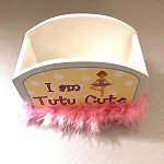 g455 I AM TUTU CUTE Bathroom Organizer (2pc.)