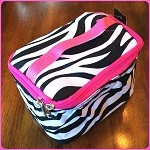 db140 Sm. Zebra Print Cosmetic Bag (ea.)