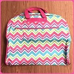 db155 Multi-Color Chevron Print Garment Bag (ea.)