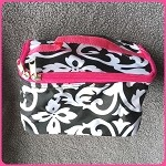 db161 Sm. Damask Print Cosmetic Bag (ea.)