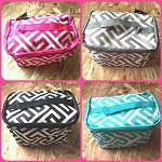 db194 Greek Key Print Cosmetic Bag (ea.)