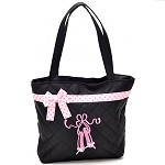 db242 Slippers & Polka Dots Print Tote Bag (ea.)