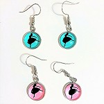 ea03 10mm Ballerina Dangle Earrings (pr.)
