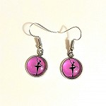 ea08 10mm Ballerina Dangle Earrings (pr.)