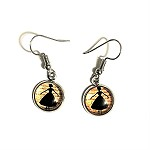 ea09 10mm Ballerina Dangle Earrings (pr.) Buy one, get one free!