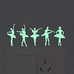 g445 Glow In The Dark Ballerina Window Decals (ea.)