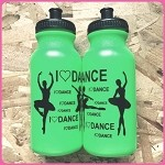 g249 Neon Green Ballerina Print 20oz. Bottle (ea.) Buy one, get one free!