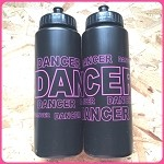 g251 Hot Pink/Black DANCER Print 32oz. Bottle (ea.)