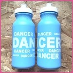 g254 Lt. Blue DANCER Print 20oz. Bottle (ea.) Buy one, get one free!