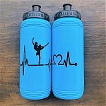 g333 Turquoise Blue Ballerina Heartbeat Print 16oz. Bottle (ea.)