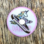 g440 Miss Unicorn Ballerina DANCER Print Cell Phone Ring/Stand (ea.)