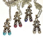 n69 Rhinestone Ballet Slippers Necklace (ea.)