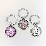 kc12A Keep Calm & Dance On Key Chain (ea.)