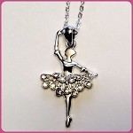 N12818 Rhinestone Ballet Necklace (ea.)