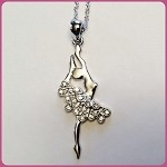 N12820 Rhinestone Ballet Necklace (ea.)