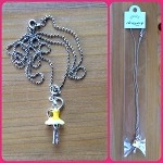 n09 Yellow Tutu Ballerina Necklace (ea.) Buy one, get one free!