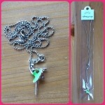 n11 Green Tutu Ballerina Necklace (ea.) Buy one, get one free!