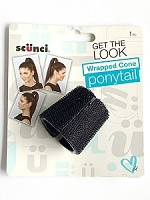 492601US Scunci Wrapped Cone Ponytail Holder (ea.)
