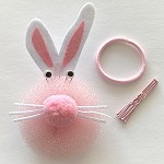 bc105 10pc. Scunchi Bunny Bun Maker Kit (ea.)