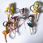g316 Bendable Ballerina Key Chains (6pc.)