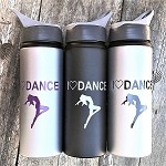 g398 Aluminum 24oz. Flip Top Jazz Dancer Print Bottle (ea.)
