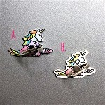 g435 Sitting Miss Unicorn Ballerina Cell Phone Ring/Stand (ea.)