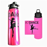 g464 h2go Aluminum 28oz. I Love Dance Arabesque Print Sport Bottle (ea.)