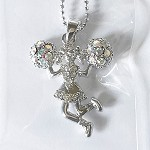 N1863 Rhinestone Cheerleader Necklace (ea.)