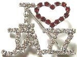 p24 I Love Jazz Rhinestone Pin (ea.)