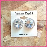 ra36 Lg. Austrian Crystal Post Earrings (pr.) 15mm ctr./20mm total size. These are assembled by hand and will be available about two weeks after an order is placed.
