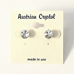 ra96 Austrian Crystal Solitaire Post Earrings (pr.)