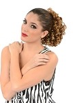 scr23 Curly Hair Fall Bun Cover w/Drawstring (ea.)