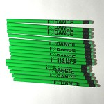 g275 Neon Green I LOVE DANCE Pencil (ea.)