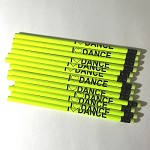 g276 Neon Yellow I LOVE DANCE Pencil (ea.)