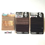 ha250 SCUNCI Color Match Hair Elastics (18pc.)