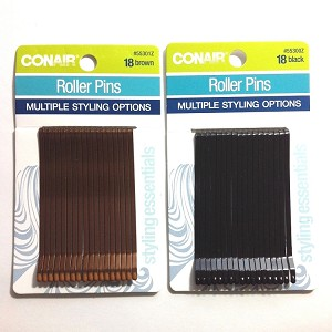 "ha239 CONAIR Lg. Flat Bobbi Pins 3"" (18pc.)"