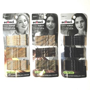 "ha252 SCUNCI Color Match Bobbi Pins 2"" (48pc.)"