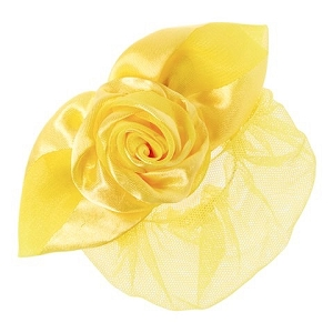 Keep your little one's hair neatly in place with this snood displaying a single rose accent.
