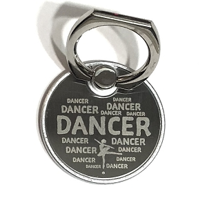 g420 Laser Engraved Metal DANCER Print Cell Phone Ring/Stand (ea.)