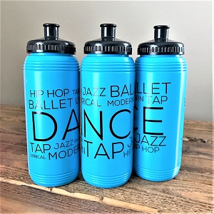 g321 Turquoise Blue Dance Print 16oz. Bottle (ea.)