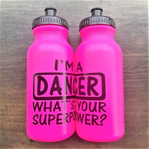 g332hp Hot Pink DANCER SUPERPOWER Print 20oz. Bottle (ea.)