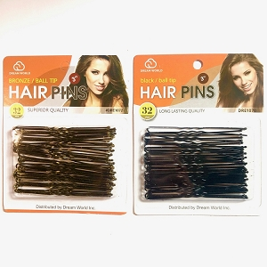 Keep your hair in place with this set of hair pins with rubber tips.