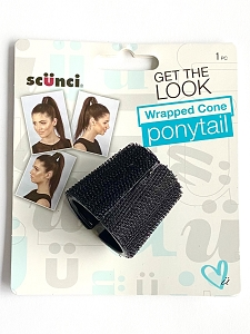 Turn a bad hair day around with this durable holder that cradles the hair for a flawlessly wrap ponytail.