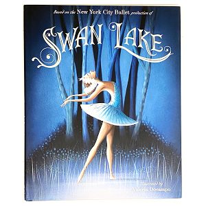 This lavishly illustrated book follows the storyline, choreography, costumes, and sets of the New York City Ballet's production of Swan Lake. With beautiful art illustrated by Valeria Docampo, this magnificent retelling is a perfect gift for an aspiring ballerina or any family who wants to add this enchanting and classic tale to their library.