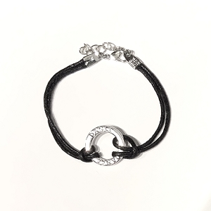 Let her show love for dance with this charming bracelet displaying her favorite word.